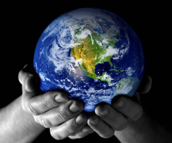 Holding the world in my heands